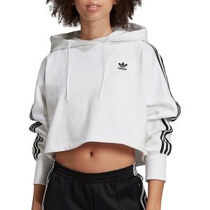 Adidas Adicolor French Terry Cropped Hoodie NWT